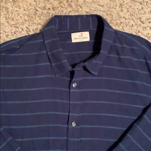 Marine Layer navy LS button done, sz Larger, EUC
